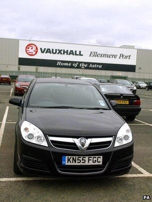 Vauxhall factory in Ellesmere Port