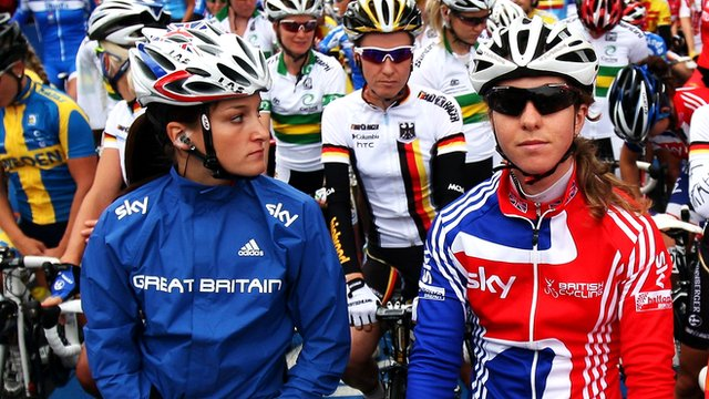 Lizzie Armitstead (left) and Nicole Cooke