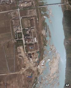 This 30 April, 2012 satellite image provided by GeoEye shows the area around the Yongbyon nuclear facility in Yongbyon, North Korea
