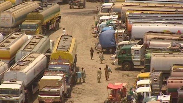 Oil tankers in Pakistan