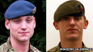 Corporal Brent McCarthy (left) and Lance Corporal Lee Davies
