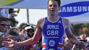 Briton Jonny Brownlee wins the World Triathlon in San Diego on Saturday
