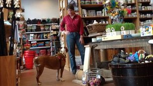 Penny Jones-Napier, owner of pet shop Big Bad Woof
