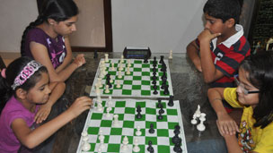Chess matches at Chanakya Chess Club in Mumbai