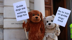 Guide Dogs protest