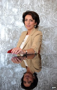 Marisol Touraine in in Tours, central France, 10 May