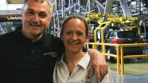 Vauxhall workers Paul Hannon and Barbara Murray