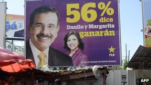 Poster for Danilo Medina and his running mate Margarita Cedeno