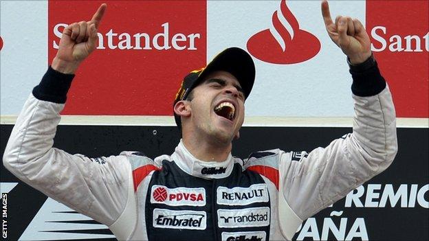 Williams Formula 1 driver Pastor Maldonado