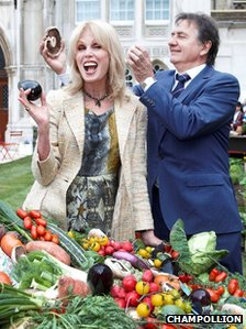 Joanna Lumley and Raymond Blanc at the launch
