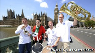 Members of the England Supports Band