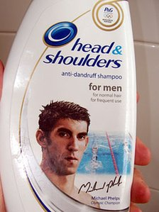 Procter & Gamble Head and Shoulders shampoo featuring US swimmer Michael Phelps