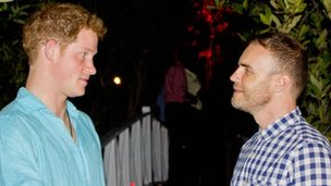 Prince Harry and Gary Barlow in Jamaica
