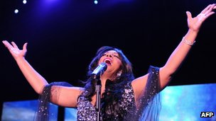 Singer Donna Summer performs in Berlin in July 2009
