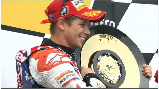 Casey Stoner wins 2011 MotoGP
