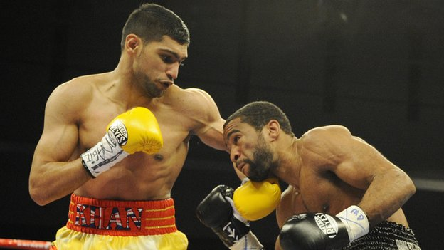 Amir Khan meets Lamont Peterson in December 2011