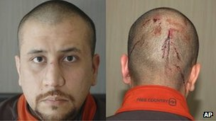 Composite photo of George Zimmerman on 27 February 2012