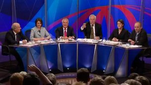 BBC Question Time panel in Cardiff