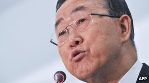 The UN Secretary General Ban Ki-moon - May 2012