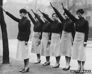 Members of Oswald Mosley's Black Shirts
