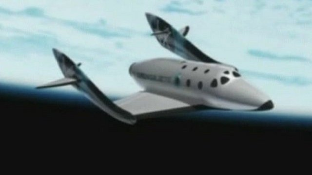 Graphic of Virgin Galactic space craft