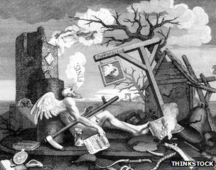 William Hogarth&#039;s The End of the World, c.1760