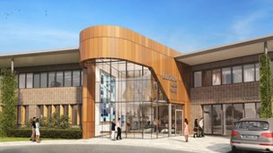 Artist's impression of the new Ludlow hospital