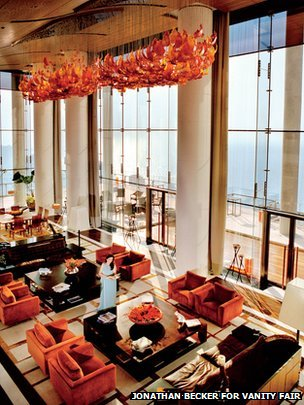 Living room of Antilia in Mumbai