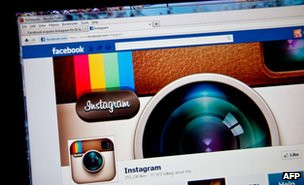 Photo-sharing app Instagram fan page on the Facebook website 