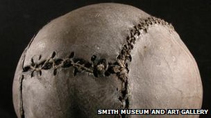 Close up of the world's oldest football