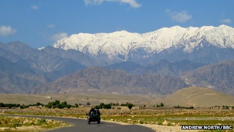 Mountains along Afghanistan's border with Pakistan