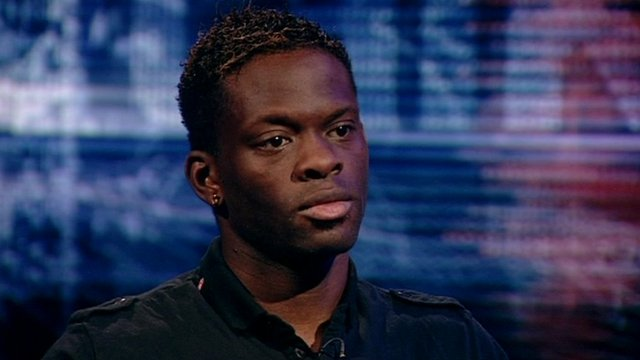 French international striker Louis Saha