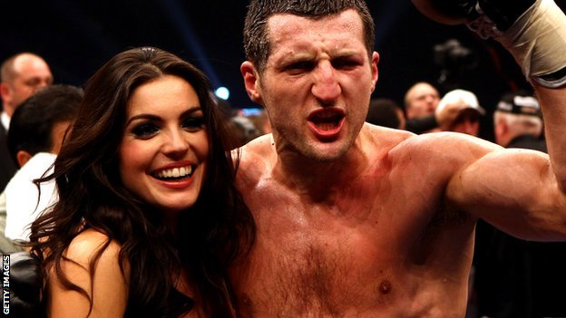 Rachael Cordingley with Carl Froch
