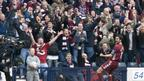 Hearts ace Paul Hartley celebrates his 2nd goal with the Hearts fans in the 4-0 Scottish Cup semi-final win in 2006