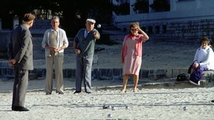Villagers playing petanque