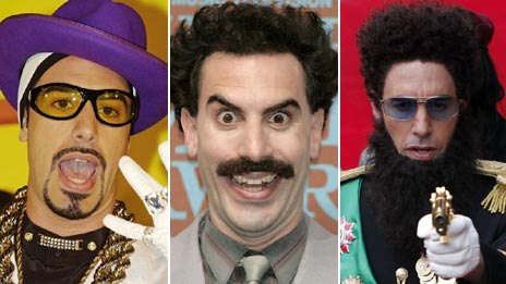 Ali G, Borat and General Admiral Aladeen