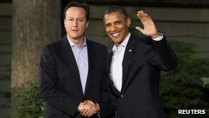 President Barack Obama and David Cameron at Camp David