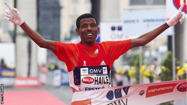 Two-time Olympic 10,000m champion Haile Gebrselassie
