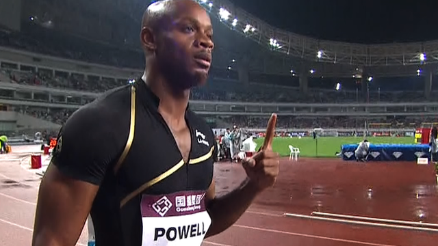 Jamaican sprinter Asafa Powell