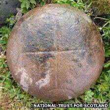 Bullaun stone found on Canna