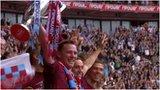 West Ham celebrate Premier League promotion