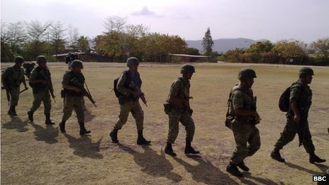 Mexican soldiers in Culiacan, file pic