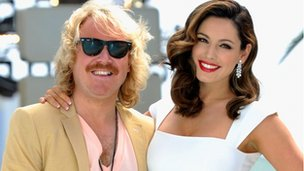 """Keith Lemon"", played by Leigh Francis, and Kelly Brook"