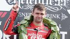 William Dunlop celebrates his third win at the North West 200 and the first for the Wilson Craig Honda team