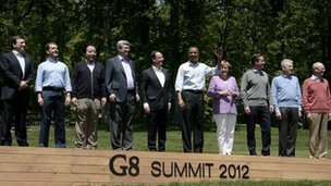 G8 leaders at Camp David (19 May)