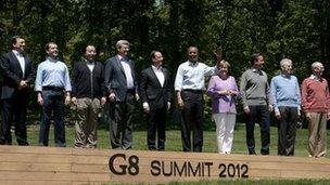 G8 leaders at Camp David (19 May)