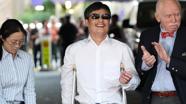Chen Guangcheng is greeted in New York