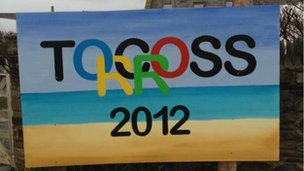 Torcross welcomes the flame