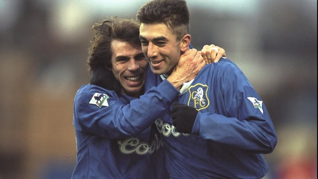 Gianfranco Zola and Roberto Di Matteo