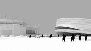 Artist impression of sports centre plans